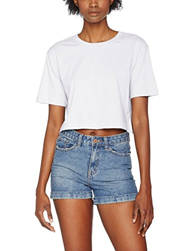 Urban Classics TB1555 Damen T-Shirt Ladies Short Oversized Tee White, S (Womens Shorts Weiche)