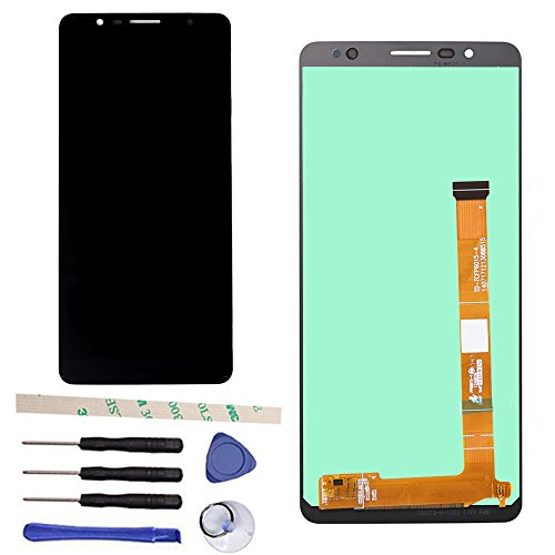 "Draxlgon Komplette LCD Display Bildschirm Touchscreen Digitizer Glas Panel für Alcatel 3C OT5026/5026 6"" Black"
