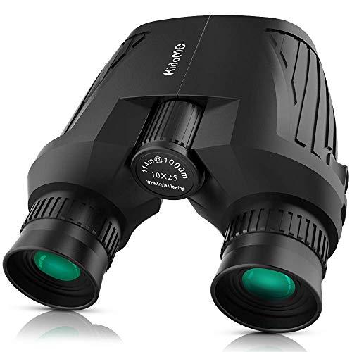 KidoME 10x25 HD Portable Prismes Légers Cadeaux pour Enfants Jumelles Compacte Mini avec Vue Lentille Angulaire Large pour Adultes et Enfants
