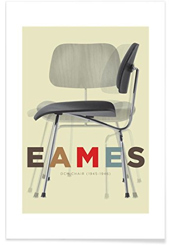 "JUNIQE Poster 30x45cm Typografie & Symbole - Design ""Eames DCM"" (Format: Hoch) - Bilder,..."
