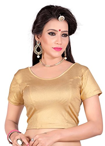 Sr Studio Women'S Designer Party Wear Collection Low Price Sale Offer Readymade Stretchable Saree Blouses  available at amazon for Rs.249