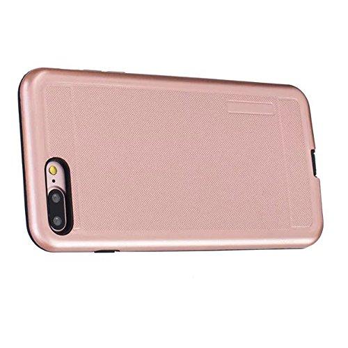 JIALUN-Telefon Fall Solid Color Shock Back Cover Telefon Fall für Apple IPhone 7 Plus 5,5 Zoll ( Color : Silver ) Rose