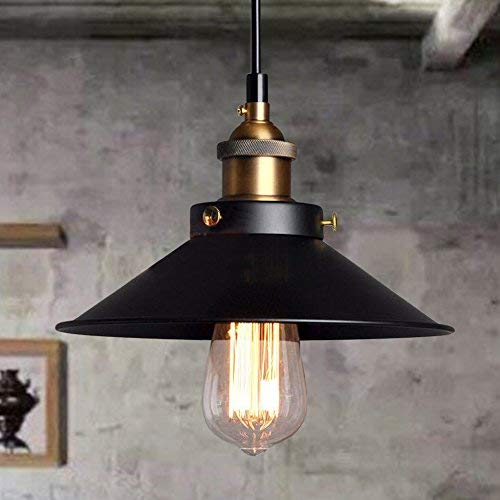 Esoes Vintage Techo - Vintage Industrial Chandelier Cage Retro Lámpara de Techo...