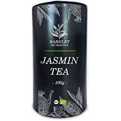 Jasmintee Grüntee (100g) - 100% Bio Tee (kbA) I Premium-Qualität I Chinesische Teespezialität I angenehmer, beruhigender Blütenduft I Tee enthält Koffein I Bestpreis durch Direktimport