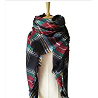YsTmS Quadratischen Stil Frauen Winter Schal Lange Größe Warme Mode Schals Wraps Plaid