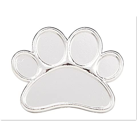 EQLEF® Cute Dog Paw Nail Art Palette anello mini del metallo Mixing Palette per il manicure