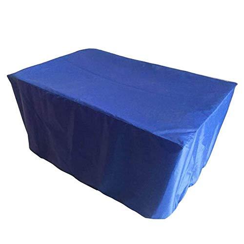 ZEMIN Funda Protectora Muebles Jardín Cubierta Exterior Conjuntos Impermeable Anti-ultravioleta Ocio Sofá Parrilla Antiedad Tela De Oxford, 12 Tallas (Color : Azul, Tamaño : 308x138x98cm)