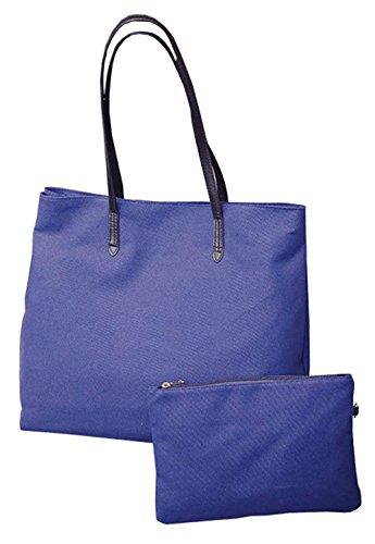 Wewod Leinwand Cityshopper Jahrgang Lässig Einkaufsbeutel Ein Satz Tasche Blau