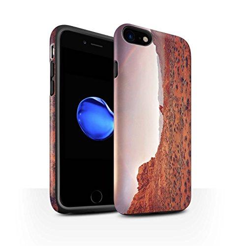 STUFF4 Matte Harten Stoßfest Hülle / Case für Apple iPhone 8 / Berge Muster / Bundesstaat Nevada Kollektion Regenbogen