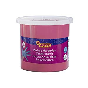 Jovi - Estuche, 5 Botes con Pintura de Dedos, 125 ml, Color Magenta (56008)