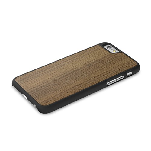 Cover-Up #WoodBack Hülle aus echtem Holz in schwarz für iPhone 6 / 6s - schwarze Limba Walnuss