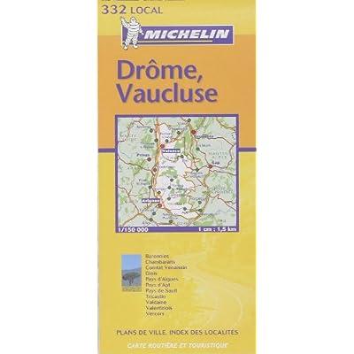 Carte routière : Drôme - Vaucluse, N° 11332