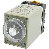 sourcingmap® AH3-3 8 perni 0-30secondi ritardo timer tempo ripetitore AC 110V con presa Base