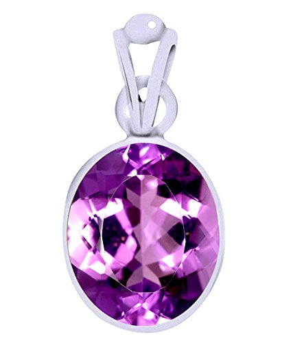 Divya Shakti 7.25 - 7.50 Ratti Amethyst Pendant / Locket ( Kataila / Jamunia Stone Silver Pendant ) 100% Original AAA Quality Gemstone