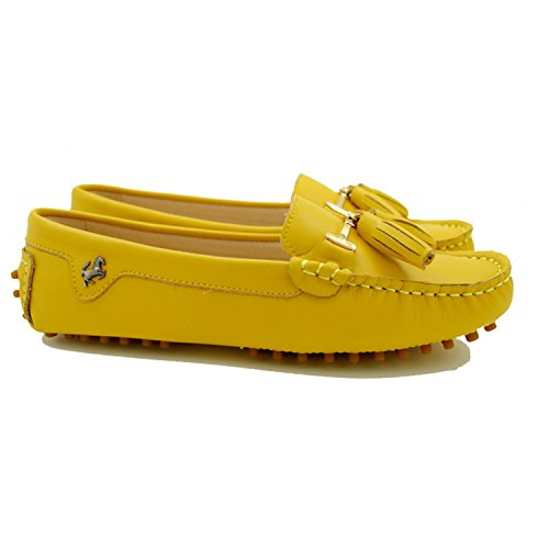 Minitoo , Sandales Compensées femme Leather-Yellow