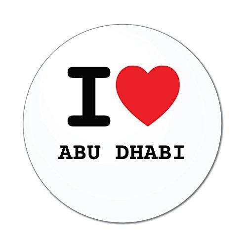 Preisvergleich Produktbild JOllify Aufkleber - ABU DHABI – Farbe: Design: I love - Ich liebe