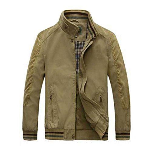 GHGJU Herren Outdoorjacke, Baumwollkragen, Doppelseitige Herrenbekleidung, Bomberjacke (Farbe : Brown, größe : XXL)