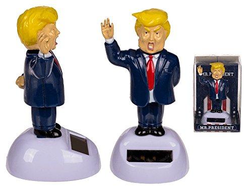 Puckator Donald Trump Solar Pal The President The Big Perücke tanzend Solar Figur Spielzeug Home Office Auto