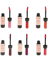 6pcs Longue Durée Rouge à Lèvres Liquide Mat Waterproof Forme Bouteille de Vin Gloss à Lèvre Hydratant Brillant Makeup Beauté
