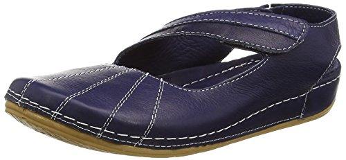 Andrea Conti Damen 0021562 Geschlossene Sandalen mit Keilabsatz Blau (dunkelblau 017)