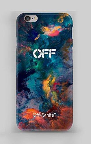 WorldSell Flexible Silikon Schutzhülle Ultra-Slim Gel TPU Bumper Cover Durchsichtige Rückschale Weiche Silikon Ultradünne Handyhülle für iPhone 6-6S Brands 097 Off White (Iphone Slim 6-cover Ultra)