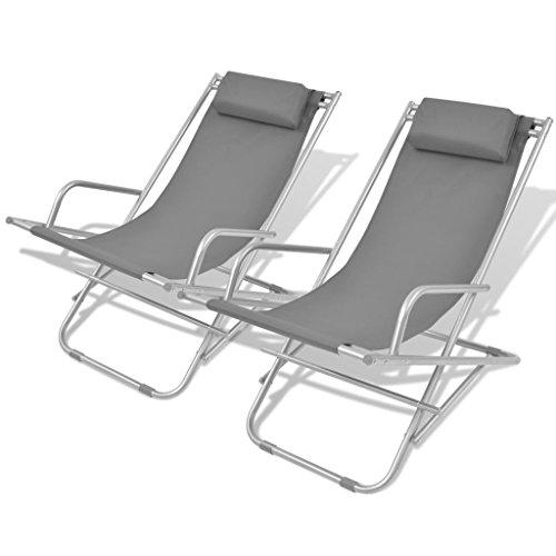 lingjiushopping, mit 2-grey, 69x 61x 89cm, Farbe: Grau, Material: PVC, pulverbeschichteter Stahl-Rahmen, (Av Rahmen Grau)
