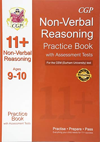 11+ Non-verbal Reasoning Practice Book with Assessment Tests (Age 9-10) for the CEM Test Cover Image