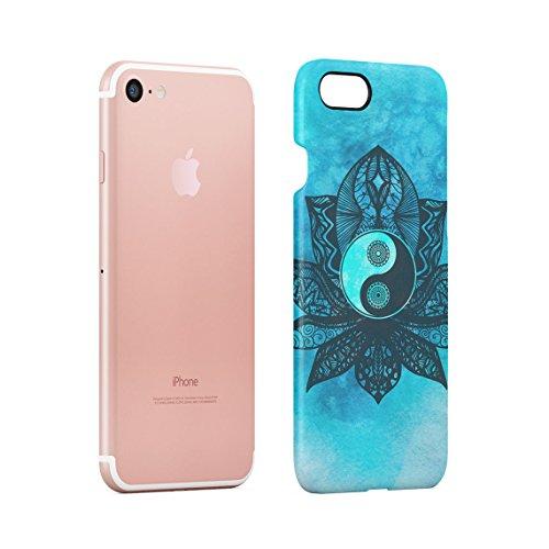 Henna Golden Ornamented Mandala Custodia Posteriore Sottile In Plastica Rigida Cover Per iPhone 7 & iPhone 8 Slim Fit Hard Case Cover Tuquoise Lotus