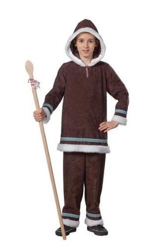 Kinder Kostüm Eskimo - Eskimokostüm Kostüm Eskimo Junge zweiteilig Gr. 104, 116, 128, 140, 152, 164, Größe:104
