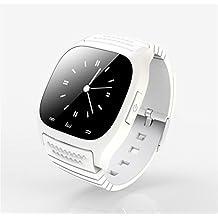 Reloj Inteligente Smartwatches Original M26 Bluetooth Smart Watch reloj de pulsera de lujo Rwatch smartwatch con Dial SMS Remind Pedometer para Android Samsung teléfono , Blanco