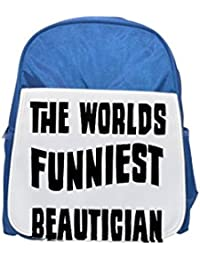 Fotomax The World s Funniest Beautician Mochila Azul para niños, Lindas Mochilas, Lindas