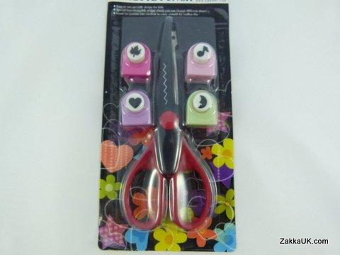 Verschrottung Punches Craft Scheren und 1cm im Durchmesser Blisterkarte (Design & Color Punsch variieren in jedem Satz)