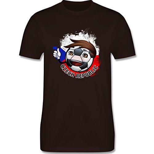 EM 2016 - Frankreich - Fußballjunge Tschechien - Herren Premium T-Shirt Braun