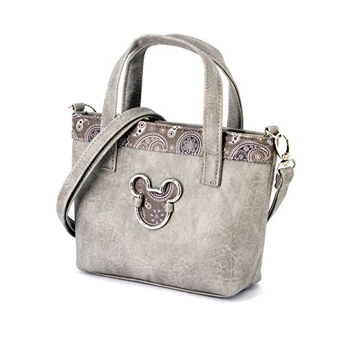 Karactermania Mickey Mouse Paisgrey-bolso Tote (pequeño) Umhängetasche, 24 cm, Grau (Paisgrey)