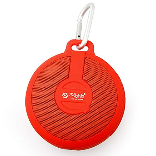 QYQ Drahtloser Bluetooth-Sprecher-im Freien tragbarer Mini Card Small Sound-Auto Subwoofer für Haus oder Reise (Farbe : Red)