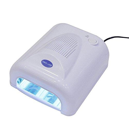 Luft-therapie-spray (WANGXN Licht-Therapie-Lampe Nagellampe UV-Lampe mit Lüfter Induktivität Lichttherapie Nagel-Werkzeuge, White)