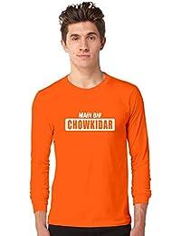 c666cf20f5f4 Inferno Mai Bhi Chaukidar Men's Cotton Orange Full Sleeve T-Shirt    Narendra Modi T