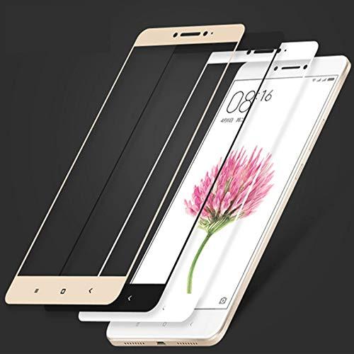 TRNY 3 Paket Für Xiaomi Mi Max Gehärtetes Glas Farbe Full Cover Displayschutzfolie Schutzfolie Für Xiaomi Mi Max2 Max3 Pro Handy Schwarz -