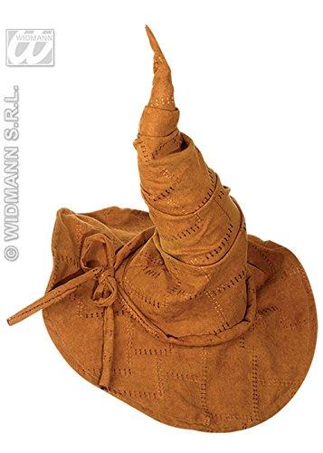 Deluxe Suede Look marron Wizard Hat