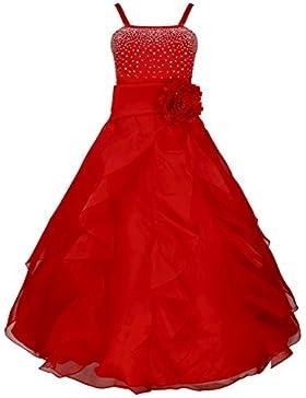 Tiaobug Blumenmädchen Festkleider Kleid Lang Brautjungfern Party Kleid Hochzeit Festlich Kleidung 92 104 116 128...