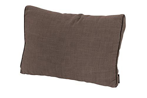Madison 12 cm Loungekissen Melange Premium Taupe Outdoor, 60 x 40 cm, Made IN Europe -