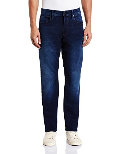 G-STAR Herren Jeans 3301 Tapered Blau (Dk Aged 89)