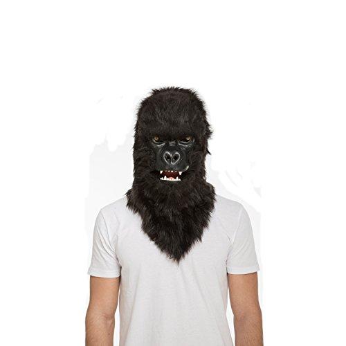 viving Kostüme viving costumes204682Gorilla Maske mit beweglichen Kiefer (One Size)