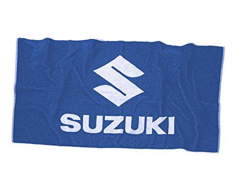 SUZUKI Strandhandtuch ! Badelaken ! Handtuch groß ! blau weiß 140 x 70 (Weiße Badelaken)