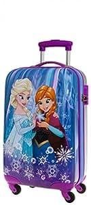 Disney Genuine Childrens ABS Hard Shell Suitcase Cabin Case (01 Frozen Blue)
