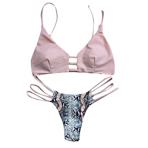 Colore solido scissione costume da bagno,robemon serpentina sexy bikini donne floreale stampare bikini impostato nuoto due pezzi