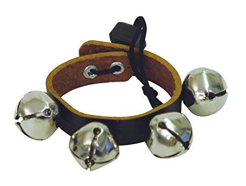 Jingle Bells Kranz Rudolph, schwarz, 4 Metallglöckchen - Schellenband/Glockenband für Schule - klangbeisser