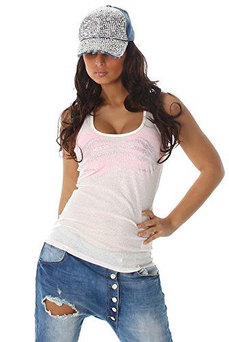 Voyelles - Débardeur - Uni - Sans Manche - Femme Blanc - blanc