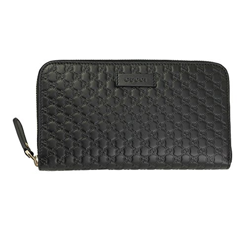 Gucci Mikro Gucci SSIma schwarzes Leder Lange Brieftasche 449391 bmj1g 1000