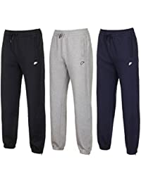 b3d7c33ddab6 Nike Mens Fleece Cotton Sports Gym Jogging Bottoms Tracksuits Black
